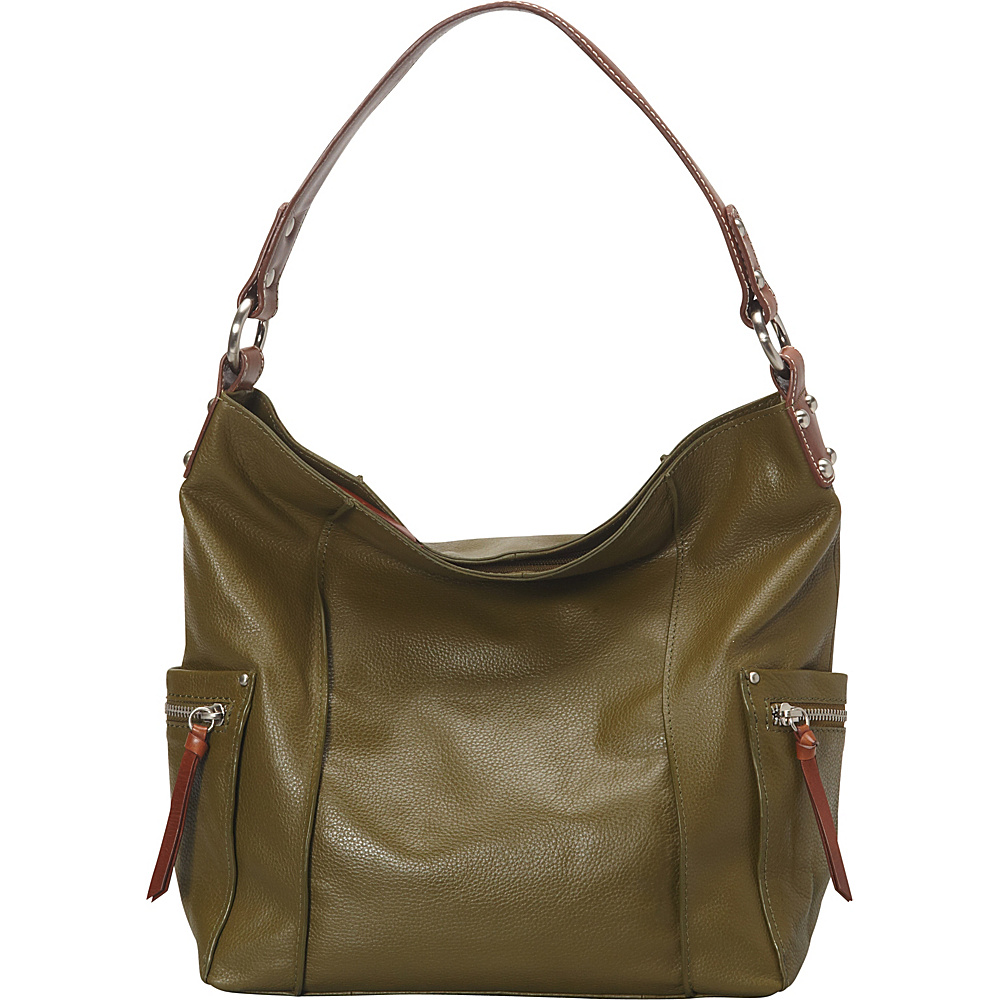 Nino Bossi Sweet Caroline Shoulder Bag Loden - Nino Bossi Leather Handbags - Handbags, Leather Handbags