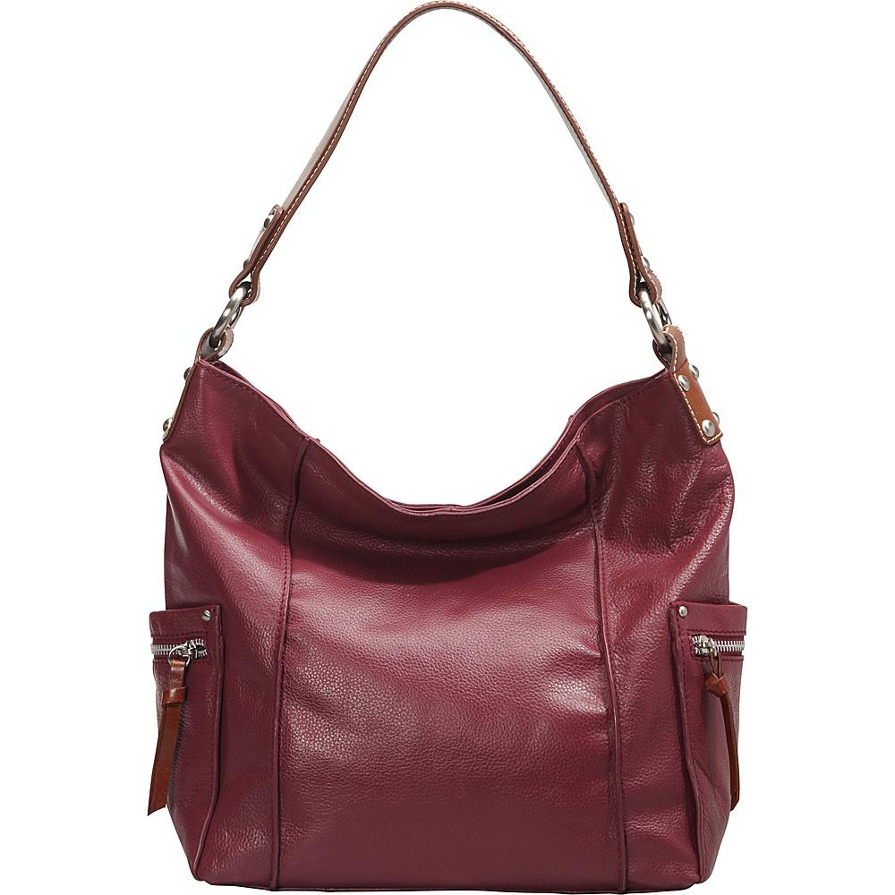 Nino Bossi Sweet Caroline Shoulder Bag Merlot - Nino Bossi Leather Handbags - Handbags, Leather Handbags