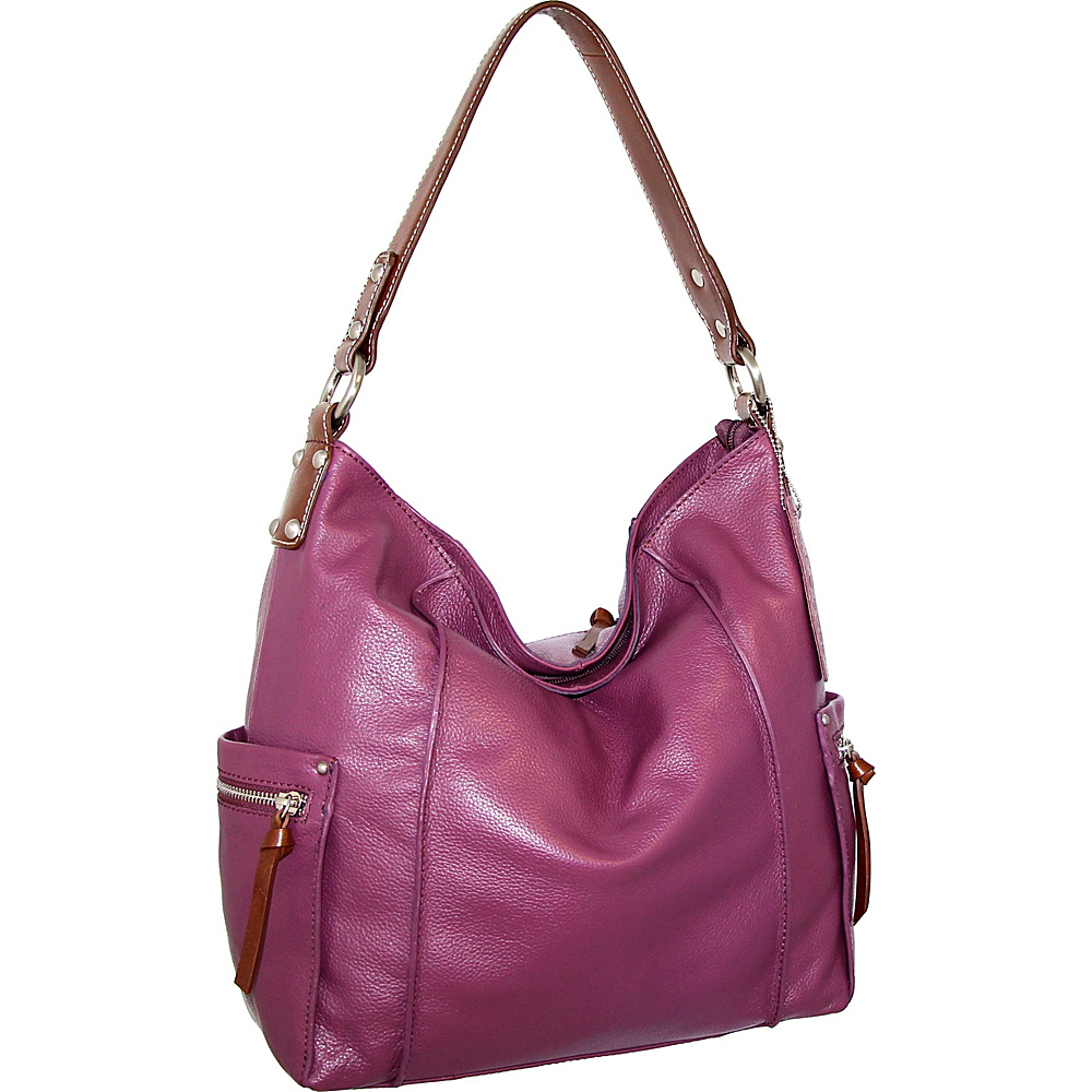 Nino Bossi Sweet Caroline Shoulder Bag Viola - Nino Bossi Leather Handbags - Handbags, Leather Handbags