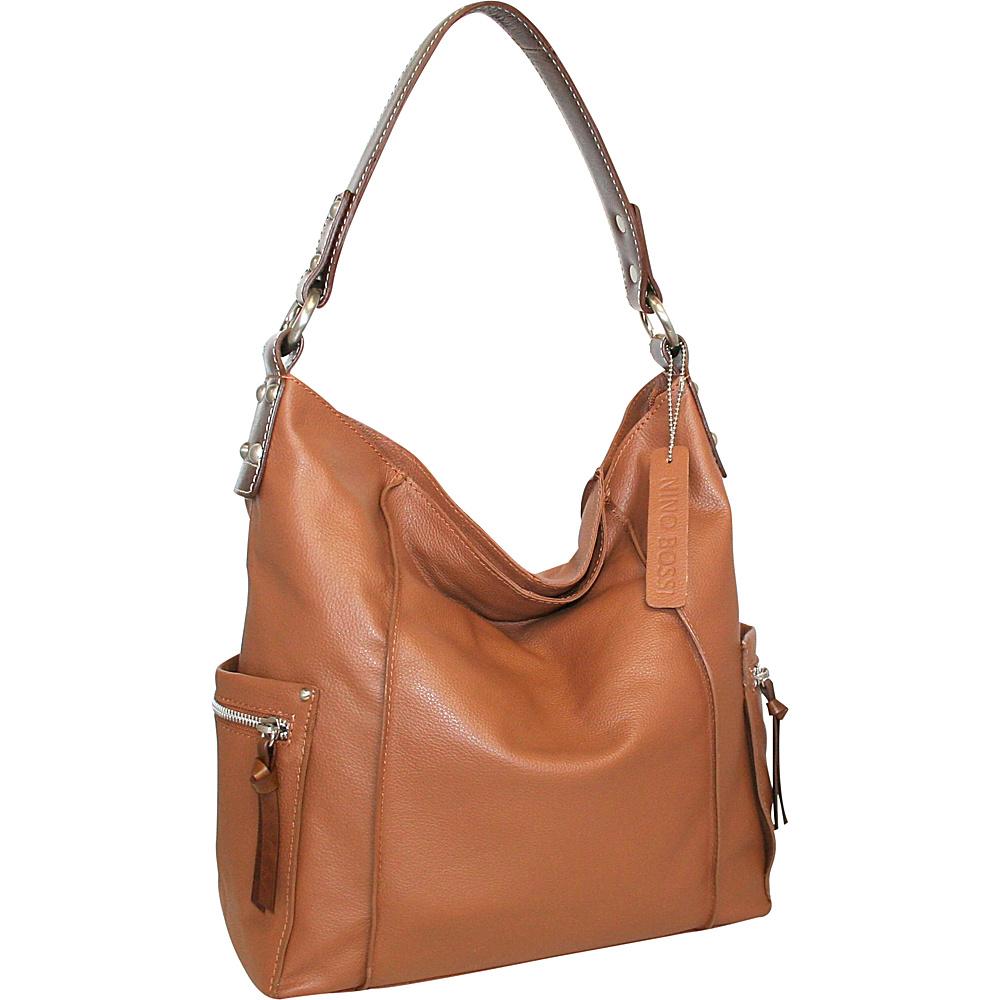 Nino Bossi Sweet Caroline Shoulder Bag Cognac - Nino Bossi Leather Handbags - Handbags, Leather Handbags