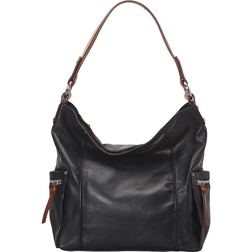Nino Bossi Sweet Caroline Shoulder Bag Black - Nino Bossi Leather Handbags - Handbags, Leather Handbags