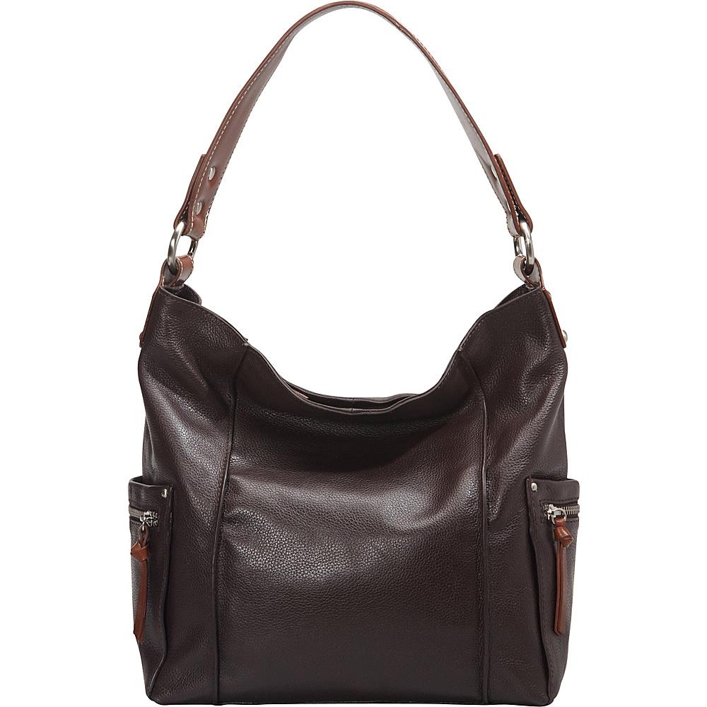 Nino Bossi Sweet Caroline Shoulder Bag Chocolate - Nino Bossi Leather Handbags - Handbags, Leather Handbags