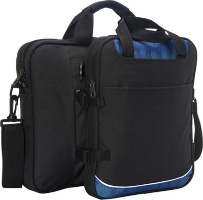 Goodhope Bags Detachable Tablet iPad Briefcase Blue - Goodhope Bags Non-Wheeled Business Cases