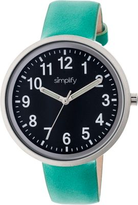 Simplify 2600 Unisex Watch Turquoise/Black - Simplify Watches