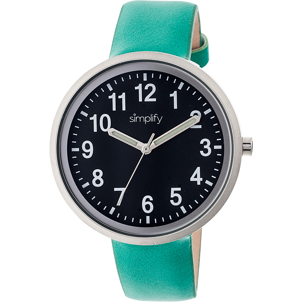 Simplify 2600 Unisex Watch Turquoise Black Simplify Watches