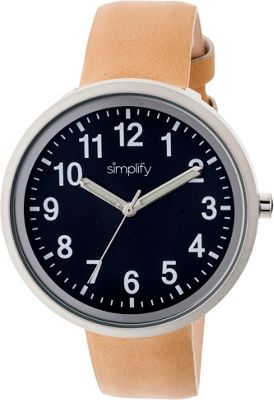 Simplify 2600 Unisex Watch Khaki-Tan/Black - Simplify Watches