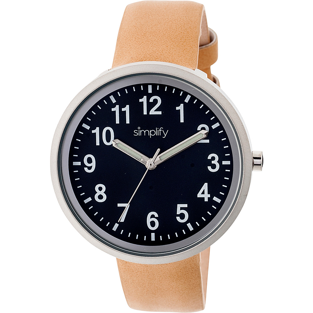 Simplify 2600 Unisex Watch Khaki Tan Black Simplify Watches