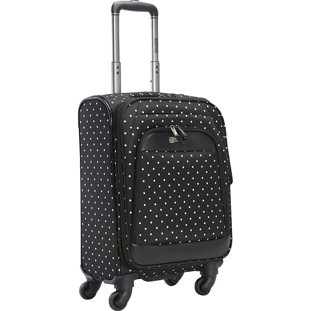 Kenneth Cole Reaction Dot Matrix 20 Carry On Black White Polka Dot Kenneth Cole Reaction Softside Carry On