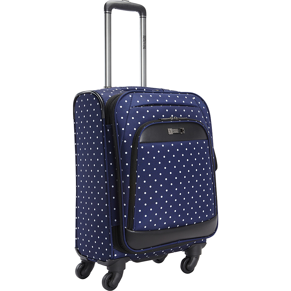 Kenneth Cole Reaction Dot Matrix 20 Carry On Navy White Polka Dot Kenneth Cole Reaction Softside Carry On