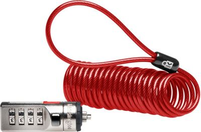 Kensington Portable Combination Laptop Security Cable Red - Kensington Electronic Accessories