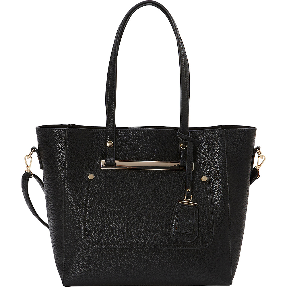 La Diva Miranda Two in One Tote Black La Diva Manmade Handbags