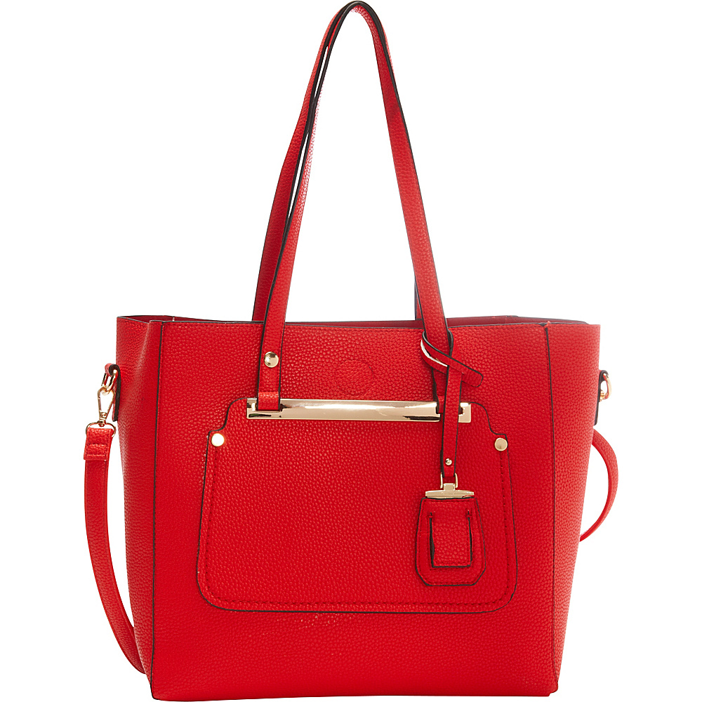 La Diva Miranda Two in One Tote Red La Diva Manmade Handbags