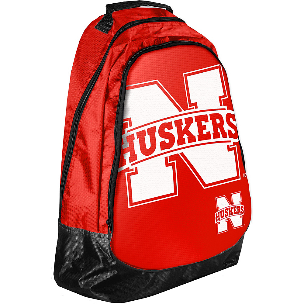 Forever Collectibles NCAA Forever Collectibles Core Structured Backpack University of Nebraska Cornhuskers Red Forever Collectibles Everyday Backpacks