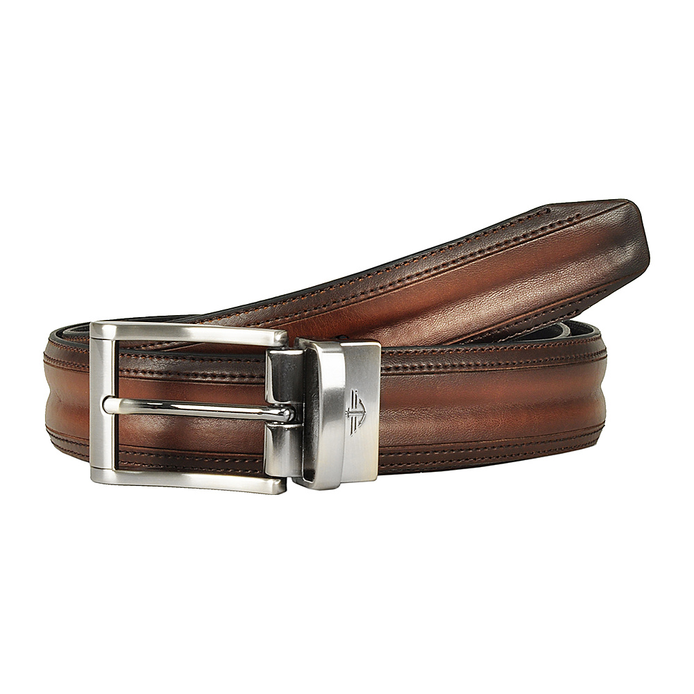 Dockers 32MM Feather Edge Reversible with Bombay Details Tan Black 40 Dockers Other Fashion Accessories