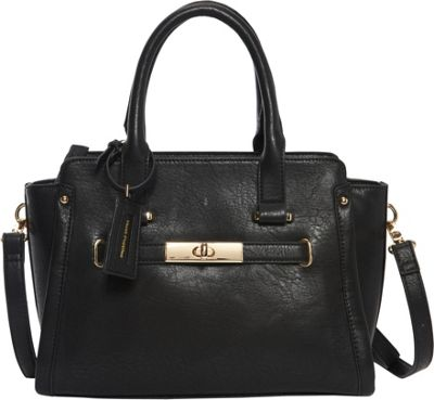 Hush Puppies Marley Satchel Black - Hush Puppies Manmade Handbags