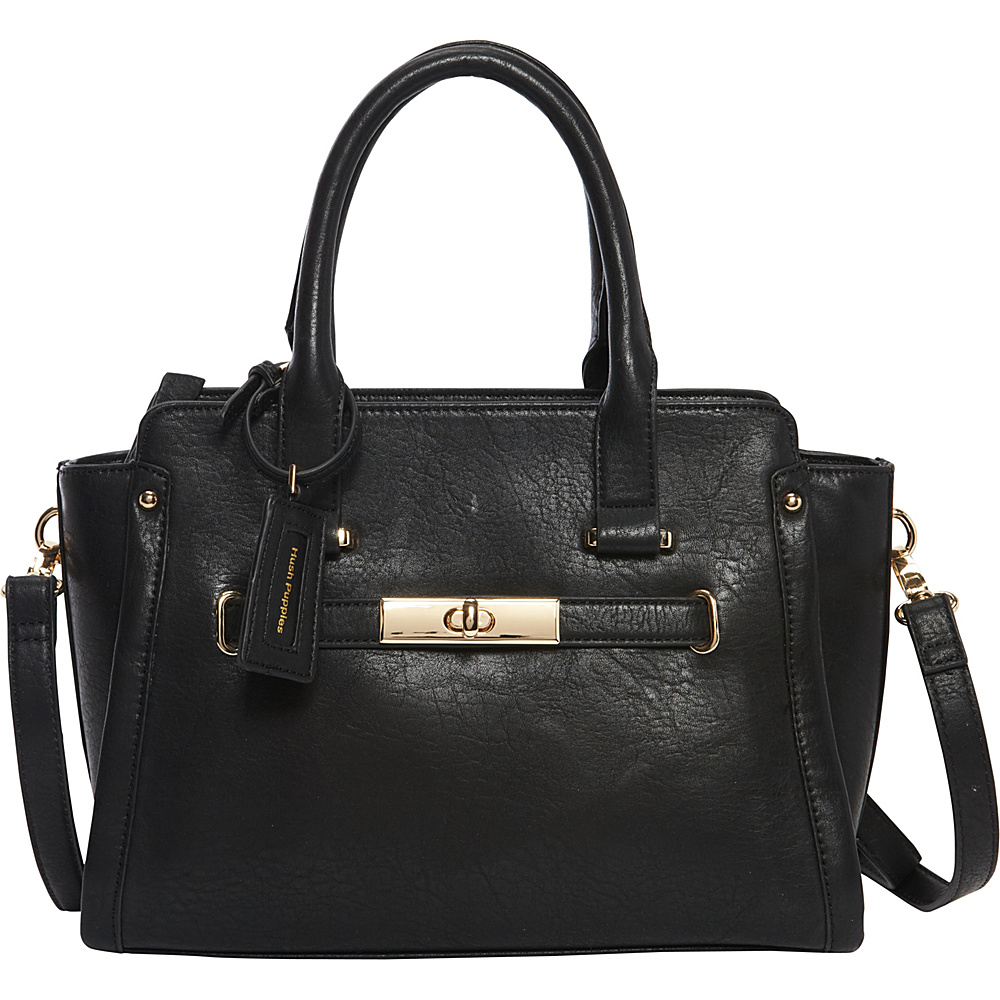 Hush Puppies Marley Satchel Black Hush Puppies Manmade Handbags