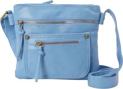 nu G Multi Pocket Crossbody Blue - nu G Manmade Handbags
