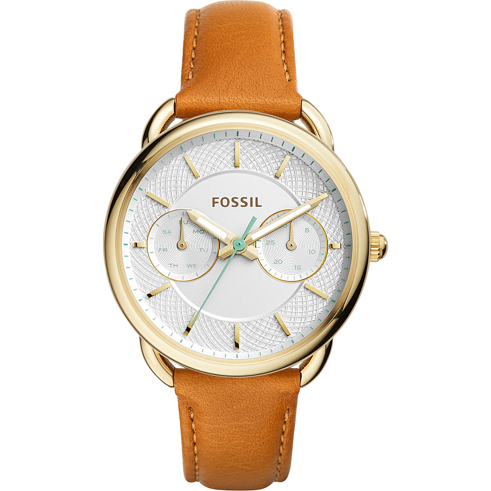 Fossil Tailor Multifunction Leather Watch Saddle - Fossil Watches - Fashion Accessories, Watches