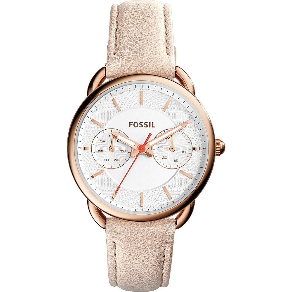 Fossil Tailor Multifunction Leather Watch White/Beige - Fossil Watches - Fashion Accessories, Watches