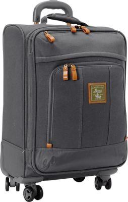 GH Bass & CO Luggage Tamarack 21 inch Carry-On Spinner Gray - GH Bass & CO Luggage Softside Carry-On