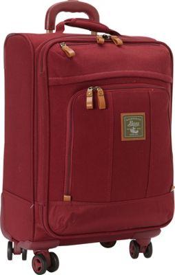 GH Bass & CO Luggage Tamarack 21 inch Carry-On Spinner Red - GH Bass & CO Luggage Softside Carry-On