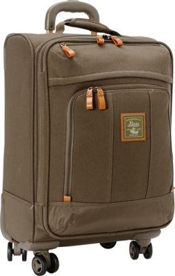 GH Bass & CO Luggage Tamarack 21 inch Carry-On Spinner Khaki - GH Bass & CO Luggage Softside Carry-On