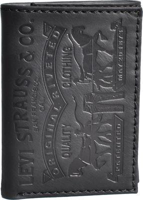 Levi's Trifold Wallet w/ Embossed logo BLACK - Levi's Men's Wallets
