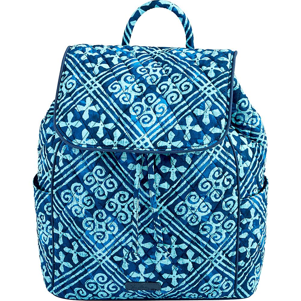Vera Bradley Drawstring Backpack Cuban Tiles - Vera Bradley Fabric Handbags - Handbags, Fabric Handbags