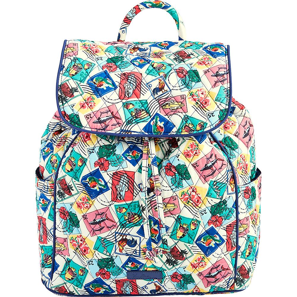 Vera Bradley Drawstring Backpack Cuban Stamps - Vera Bradley Fabric Handbags - Handbags, Fabric Handbags