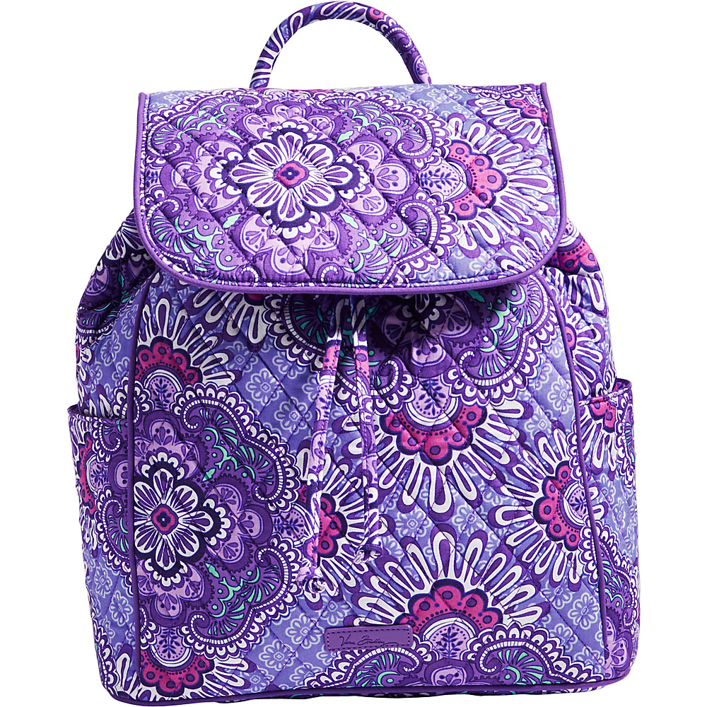 Vera Bradley Drawstring Backpack Lilac Tapestry Vera Bradley Fabric Handbags