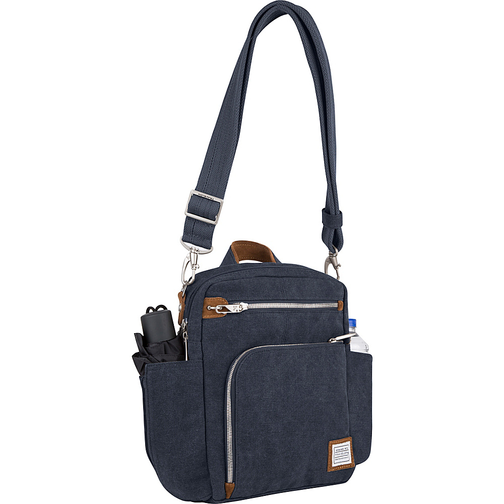 Travelon Anti-Theft Heritage Tour Bag Indigo - Travelon Fabric Handbags - Handbags, Fabric Handbags