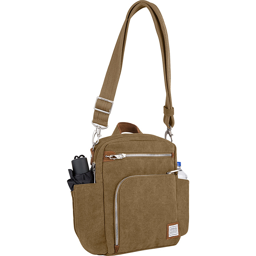 Travelon Anti-Theft Heritage Tour Bag Oatmeal - Travelon Fabric Handbags