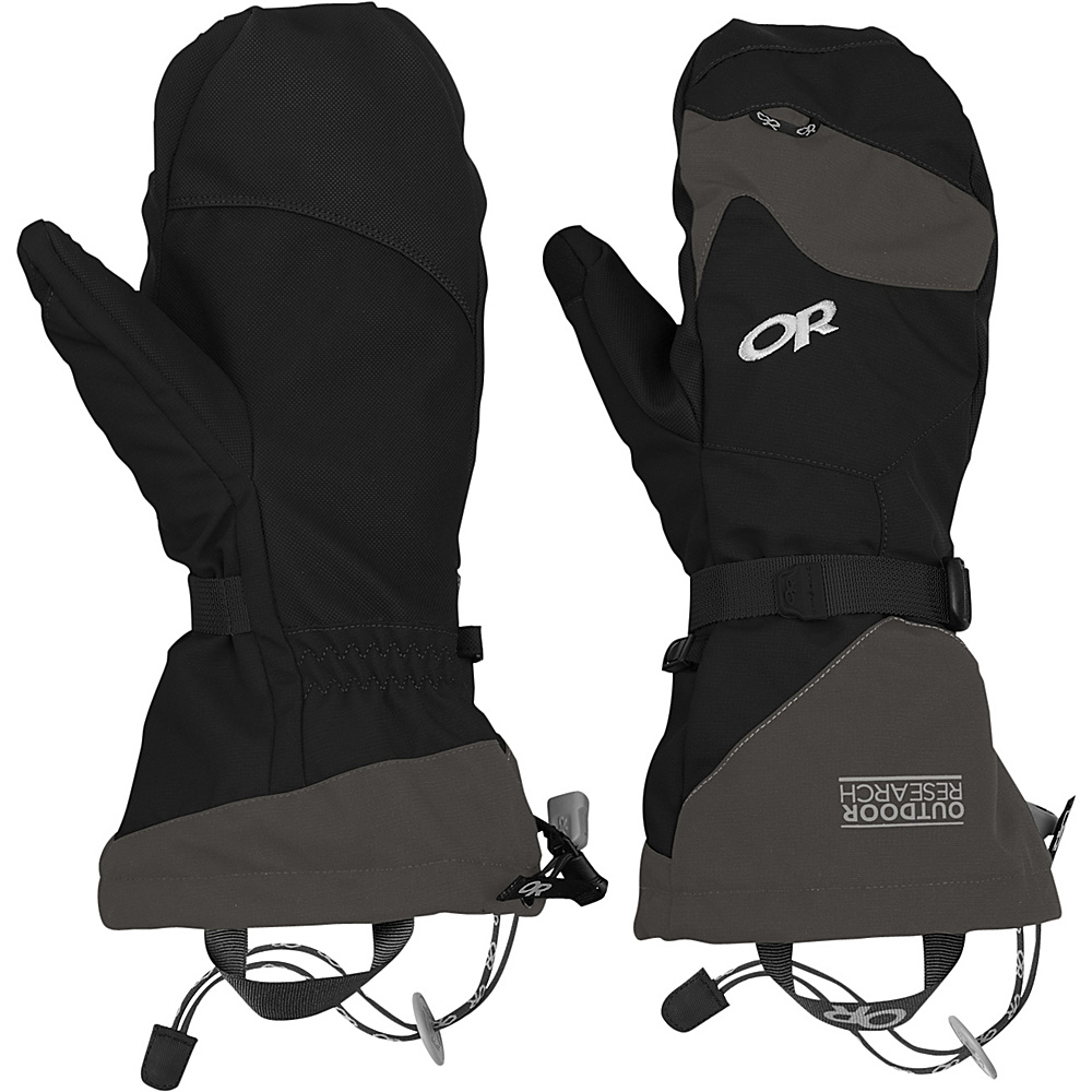 Outdoor Research Meteor Mitts XL - Black/Charcoal - Outdoor Research Hats/Gloves/Scarves - Fashion Accessories, Hats/Gloves/Scarves