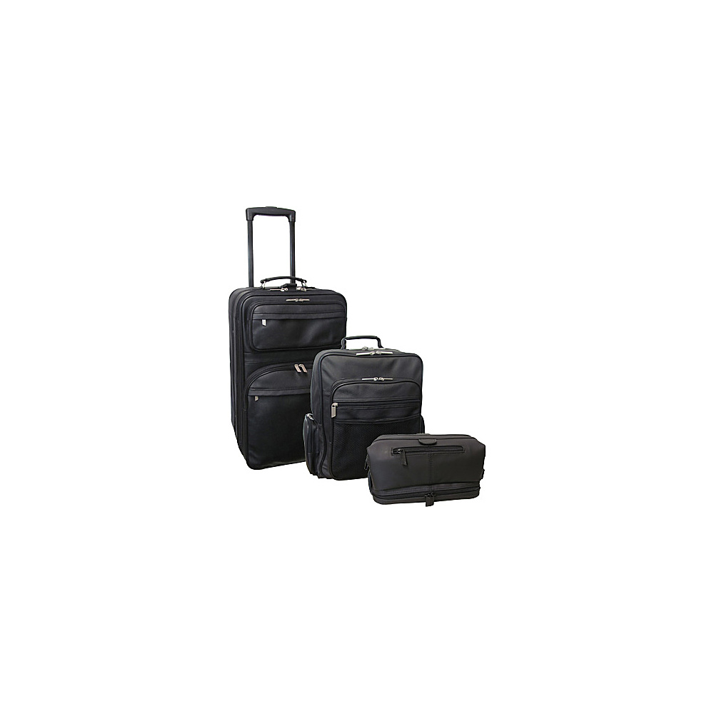 AmeriLeather Traveler 3-Piece Black Luggage Set Black - AmeriLeather Luggage Sets - Luggage, Luggage Sets