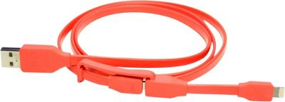 Tylt Syncable 1m Duo Lightning Cable Red - Tylt Electronic Accessories