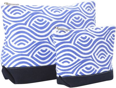 Needham Lane Kensington Cosmetic Bag Set Blue - Needham Lane Women's SLG Other