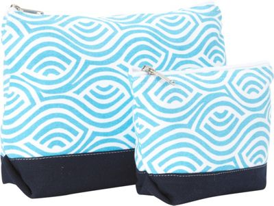 Needham Lane Kensington Cosmetic Bag Set Aqua - Needham Lane Women's SLG Other