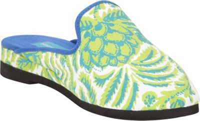 Needham Lane Pineapple Slip-Ons S - Green - Small - Needham Lane Women's Footwear