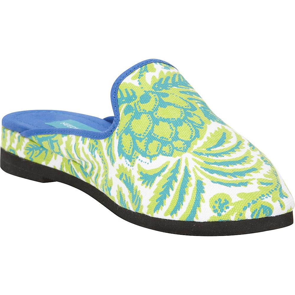 Needham Lane Pineapple Slip Ons Green Large Needham Lane Women s Footwear