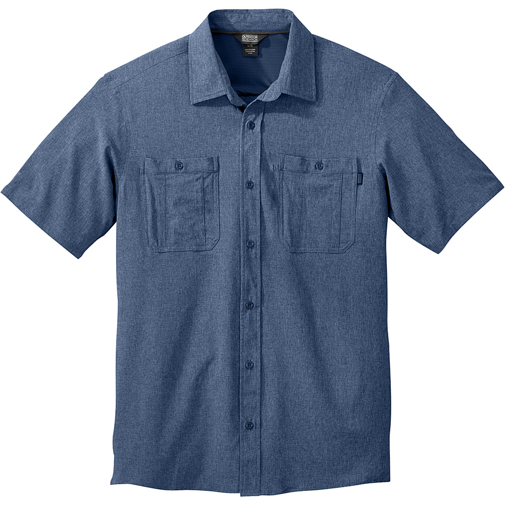 Outdoor Research Mens Wayward Short Sleeve Shirt XL - Dusk - Outdoor Research Mens Apparel - Apparel & Footwear, Men's Apparel