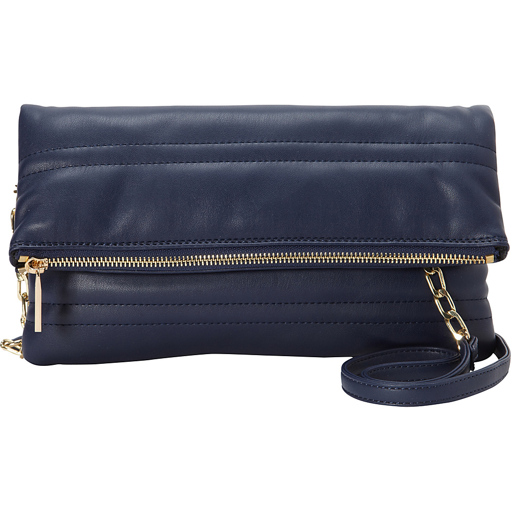 deux lux NYC Fold Clutch Navy deux lux Manmade Handbags