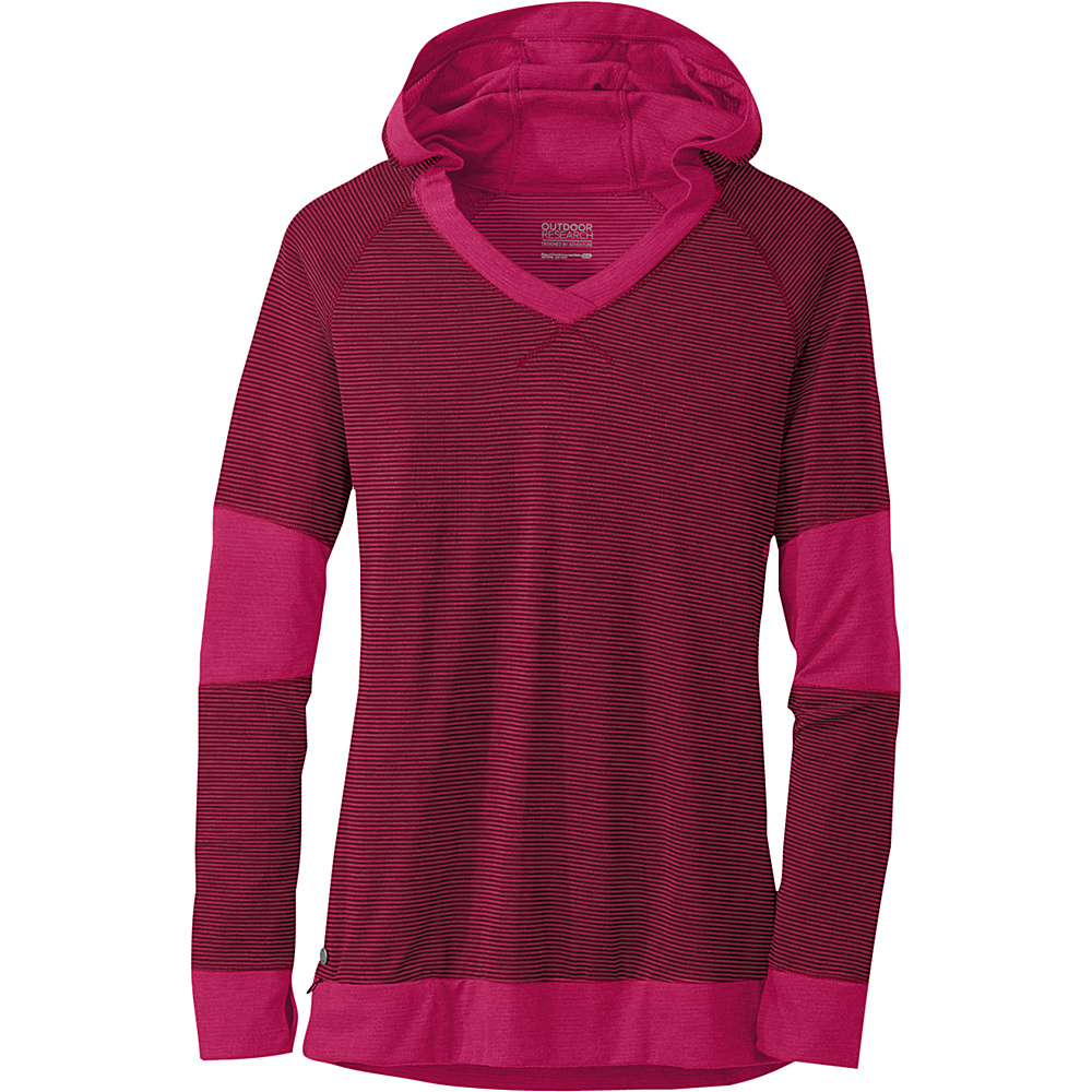 Outdoor Research Womens Umbra Hoody S - Sangria - Outdoor Research Womens Apparel - Apparel & Footwear, Women's Apparel