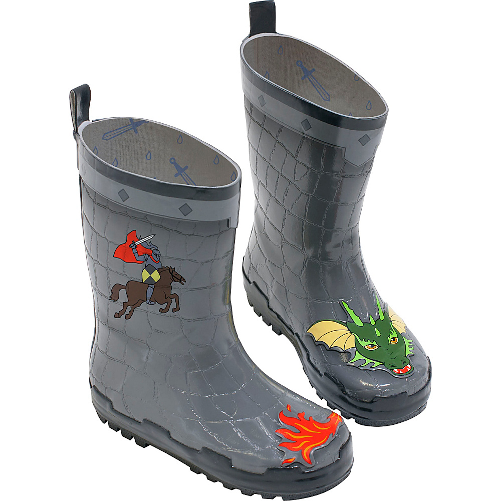 Kidorable Dragon Knight Rain Boots 1 (US Kids) - M (Regular/Medium) - Grey - Kidorable Mens Footwear - Apparel & Footwear, Men's Footwear