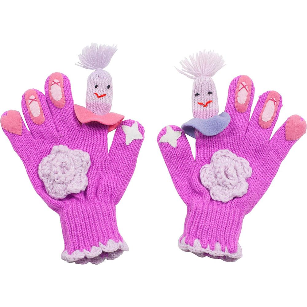 Kidorable Ballerina Knit Gloves Pink Medium Kidorable Hats Gloves Scarves