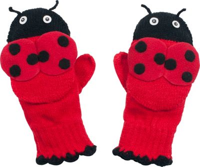 Kidorable Ladybug Knit Mittens S - Red - Kidorable Hats/Gloves/Scarves