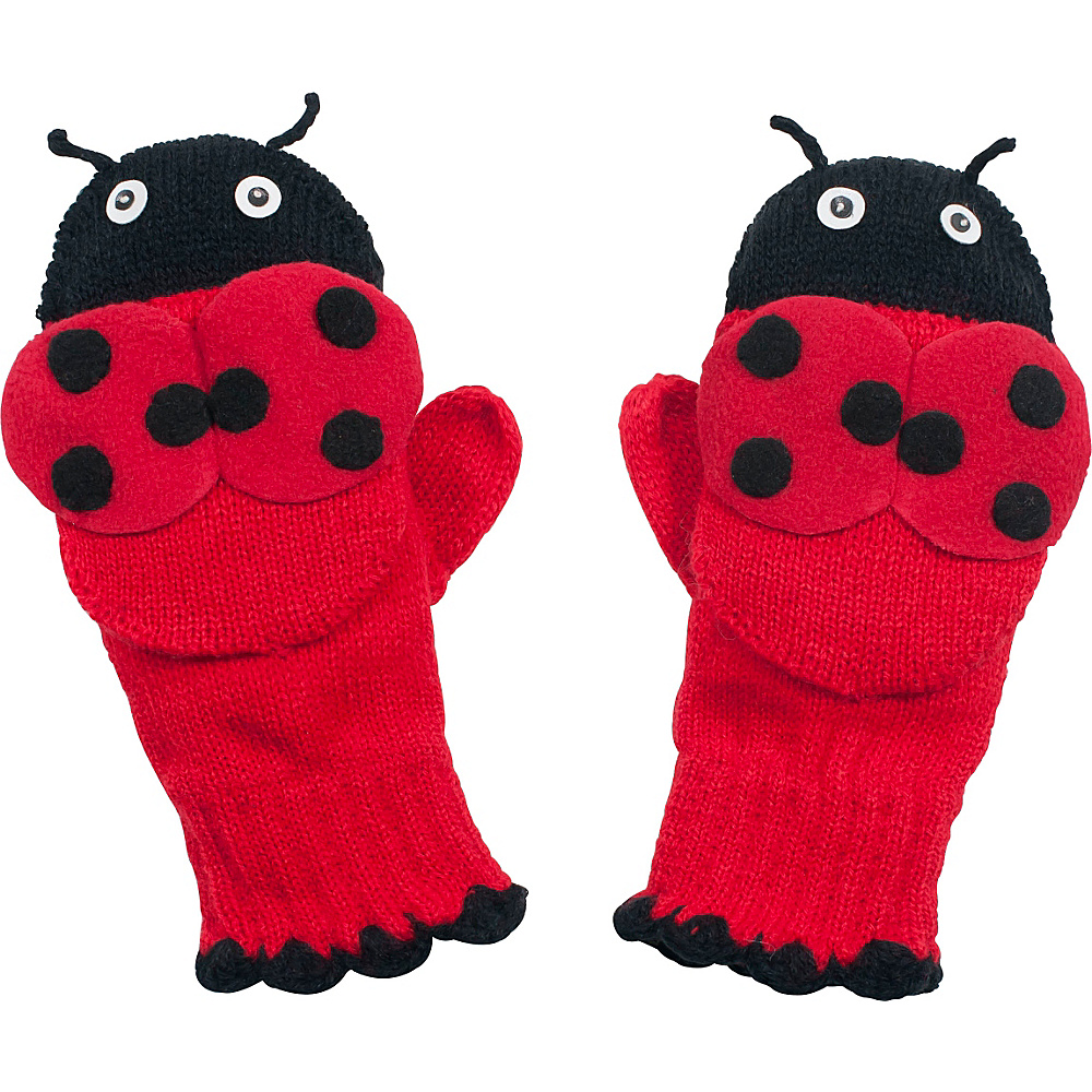 Kidorable Ladybug Knit Mittens Red Medium Kidorable Hats Gloves Scarves