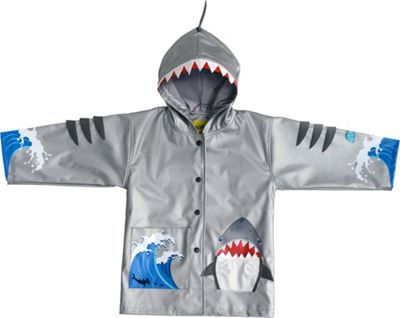 Kidorable Shark All-Weather Raincoat 3T - Grey - Kidorabl...