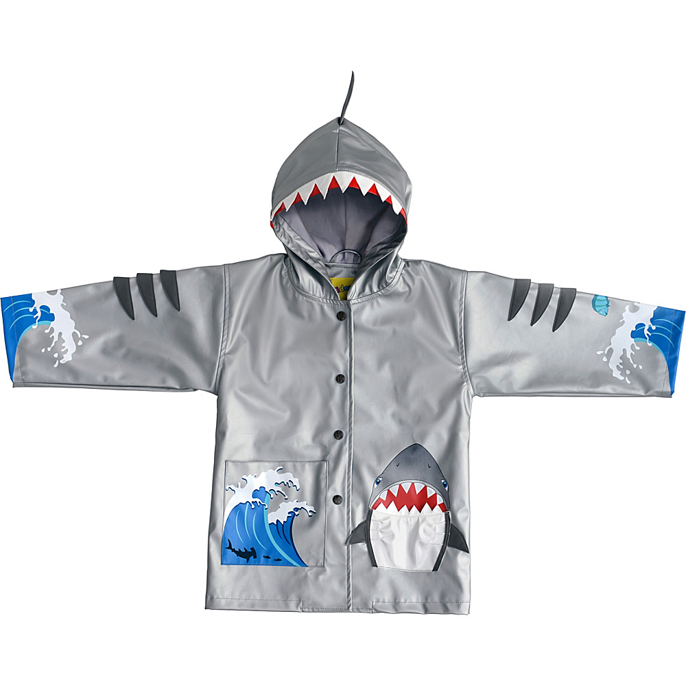 Kidorable Shark All-Weather Raincoat 6/6X - Grey - Kidorable Mens Apparel - Apparel & Footwear, Men's Apparel