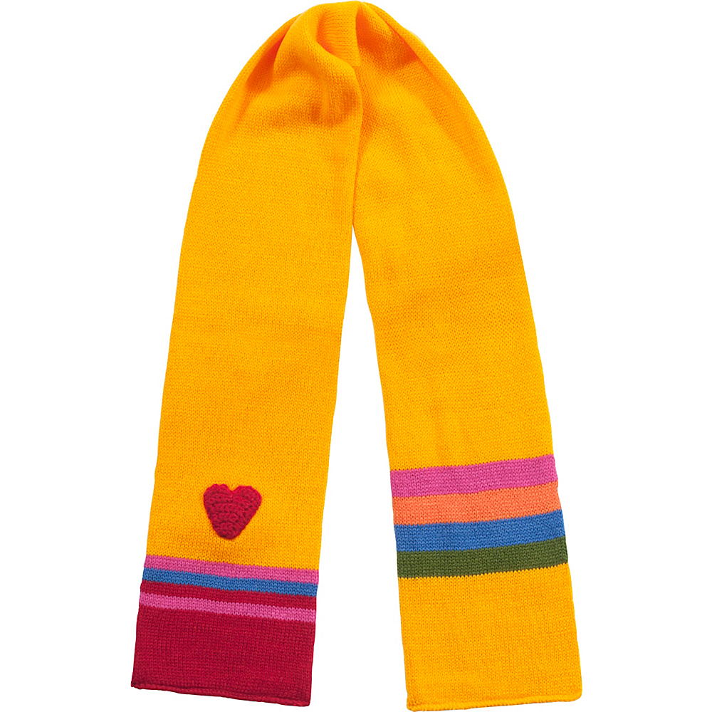 Kidorable Heart Knit Scarf Yellow One Size Kidorable Hats Gloves Scarves