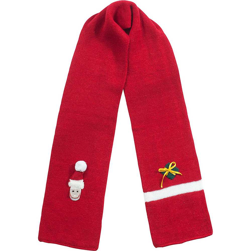 Kidorable Xmas Knit Scarf Red - One Size - Kidorable Hats/Gloves/Scarves - Fashion Accessories, Hats/Gloves/Scarves